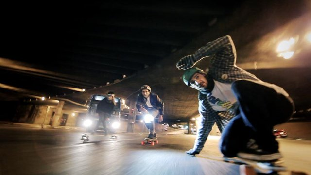 Winter Night Longboard