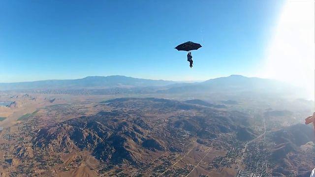 GoPro: Erik Roner's Umbrella Skydive
